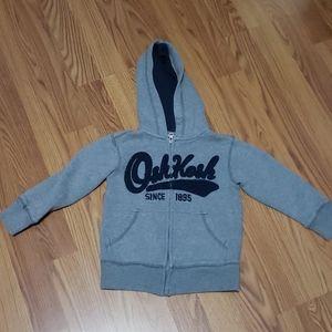 Boys Oshkosh B'gosh gray zippered hoodie 4